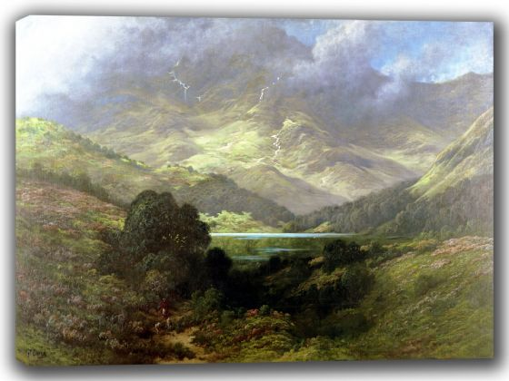 Dore, Gustave: Scottish Highlands. Fine Art Canvas. Sizes: A4/A3/A2/A1 (002629)